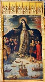 Columbus (left) chapel altar - Alcazar, Seville